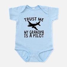 Trust Me My Grandpa Is A Pilot Body Suit