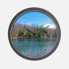 Lake View Scenery Wall Clock
