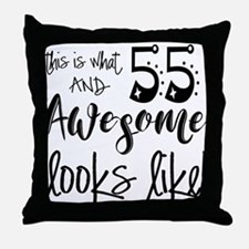 Awesome 55 Years Old Throw Pillow