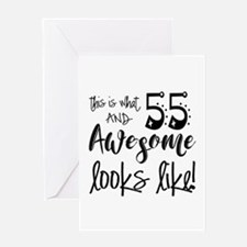 Awesome 55 Years Old Greeting Card