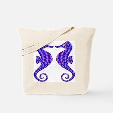 2 Beautiful Seahorses Tote Bag