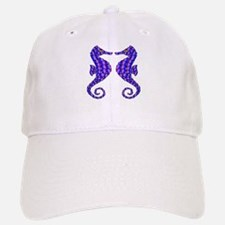 2 Beautiful Seahorses Baseball Baseball Cap