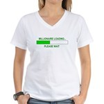 Millioniare loading... Women's V-Neck T-Shirt