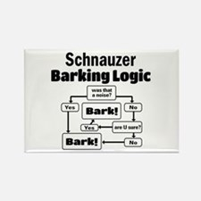 Cute Schnauzers Rectangle Magnet
