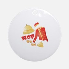 Hop To It Round Ornament