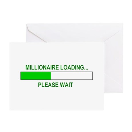 Millioniare loading... Greeting Cards (Pk of 20)