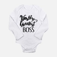 World's Greatest Boss Long Sleeve Infant Bodysuit