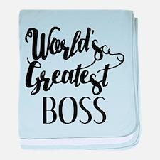 World's Greatest Boss baby blanket
