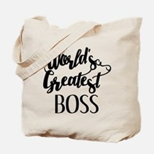 World's Greatest Boss Tote Bag