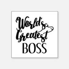 "World's Greatest Boss Square Sticker 3"" x 3"""