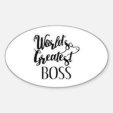 World's Greatest Boss Decal