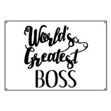 Worlds greatest boss Banners