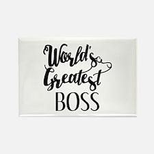 World's Greatest Boss Rectangle Magnet (10 pack)
