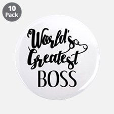 "World's Greatest Boss 3.5"" Button (10 pack)"