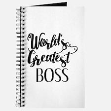 World's Greatest Boss Journal