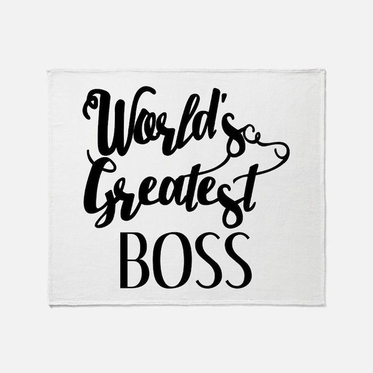 World's Greatest Boss Throw Blanket