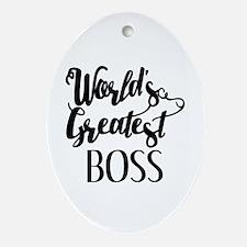 World's Greatest Boss Oval Ornament