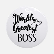 World's Greatest Boss Round Ornament