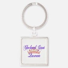 Checkered Giant Queen Keychains