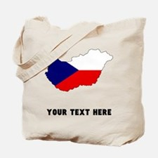 Czech Flag Silhouette (Custom) Tote Bag