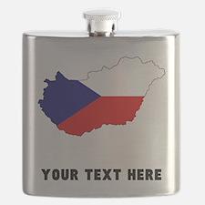 Czech Flag Silhouette (Custom) Flask