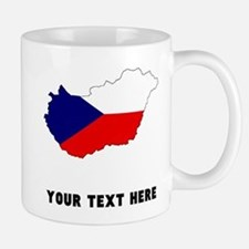 Czech Flag Silhouette (Custom) Mugs