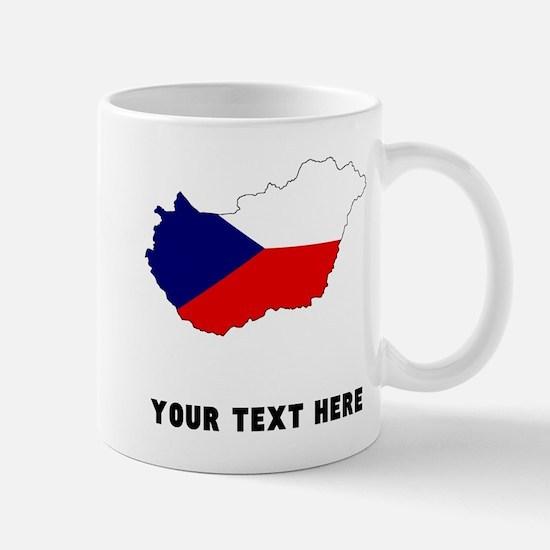 Czech Flag Silhouette (Custom) Mugs