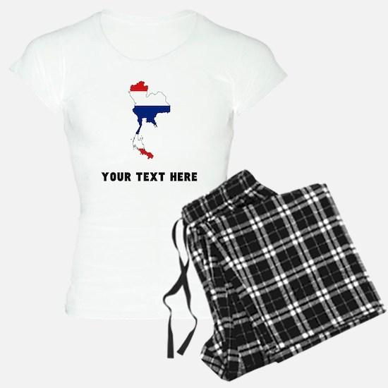 Thai Flag Silhouette (Custom) Pajamas