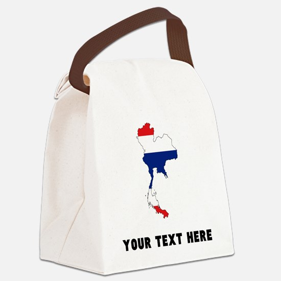 Thai Flag Silhouette (Custom) Canvas Lunch Bag
