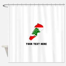 Lebanese Flag Silhouette (Custom) Shower Curtain