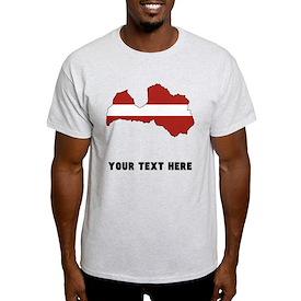 Latvian Flag Silhouette (Custom) T-Shirt