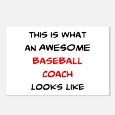 awesome baseball coach Postcards (Package of 8)