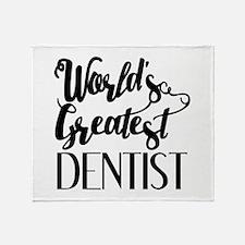 World's Greatest Dentist Throw Blanket