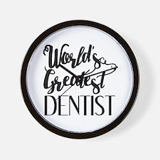 World's Greatest Dentist Wall Clock