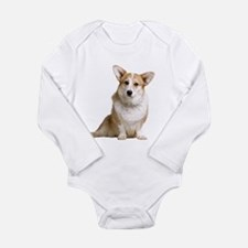 Funny Black and white dog Long Sleeve Infant Bodysuit
