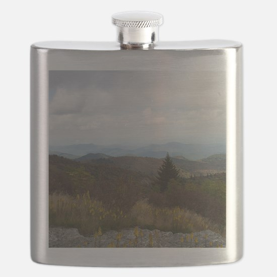 North Carolina Mountain Range Flask