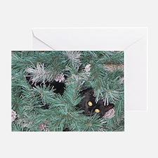 Unique Black cat christmas Greeting Card