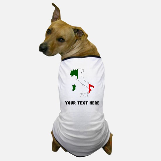 Italian Flag Silhouette (Custom) Dog T-Shirt
