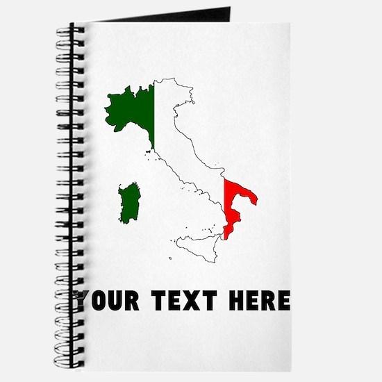 Italian Flag Silhouette (Custom) Journal