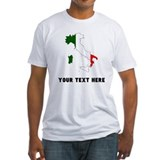 Italy customize Fitted Light T-Shirts
