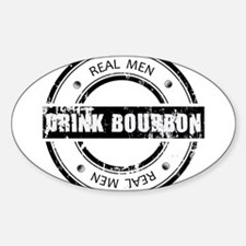 Real Men Drink Bourbon Decal