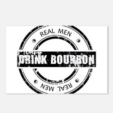 Real Men Drink Bourbon Postcards (Package of 8)