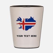 Icelandic Flag Silhouette (Custom) Shot Glass