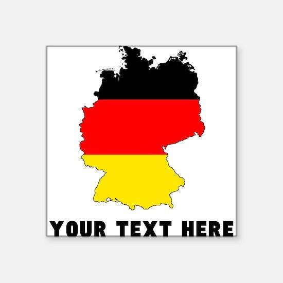 German Flag Silhouette (Custom) Sticker