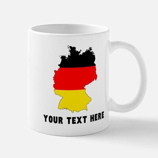 German Flag Silhouette (Custom) Mugs
