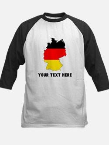 German Flag Silhouette (Custom) Baseball Jersey