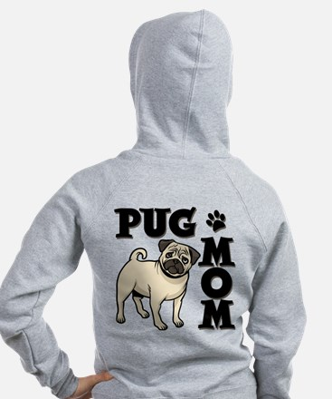 PUG MOM (both sides) Zip Hoodie