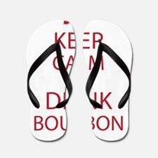 Keep Calm and Drink Bourbon Flip Flops