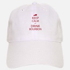 Keep Calm and Drink Bourbon Baseball Baseball Cap