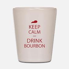 Keep Calm and Drink Bourbon Shot Glass